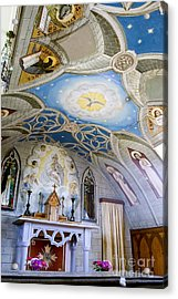 The Italian Chapel Mural Orkney Acrylic Print by Tim Gainey