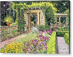 The Italian Gardens Hatley Park Acrylic Print by David Lloyd Glover