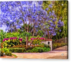 Acrylic Print featuring the painting The Jacaranda by Michael Pickett