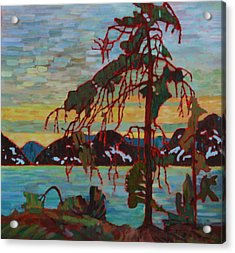 The Jack Pine After Tom Thomson Acrylic Print by Betty-Anne McDonald