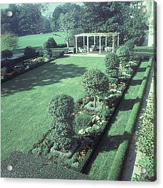 The Jacqueline Kennedy Garden At The White House Acrylic Print by Horst P. Horst