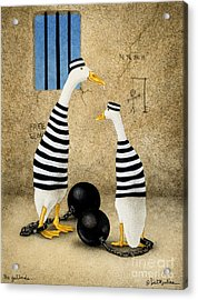 The Jailbirds... Acrylic Print by Will Bullas