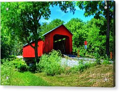 The James Covered Bridge Acrylic Print by Mel Steinhauer