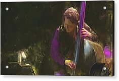 The Jazz Bassist Acrylic Print by Michael Malicoat