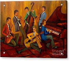 The Jazz Company Acrylic Print by Larry Martin