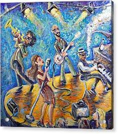 The Jazz Lounge Acrylic Print by Jason Gluskin