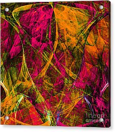 The Jester 20130510 Square Acrylic Print by Wingsdomain Art and Photography
