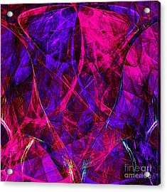 The Jester 20130510v2 Square Acrylic Print by Wingsdomain Art and Photography