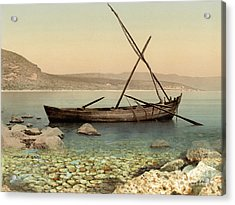 The Jesus Boat At The Sea Of Galilee  Acrylic Print by Miki Karni