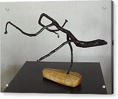 The Jesus Christ Lizard Acrylic Print by Vele Bezzo