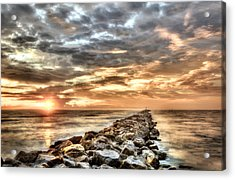 The Jetties At Ponce Inlet Acrylic Print