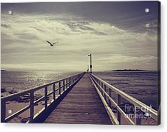 The Jetty Acrylic Print by Linda Lees