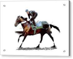 The Jockey Acrylic Print by Steve K