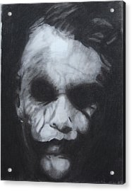 The Joker Acrylic Print by Aaron Balderas