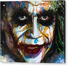 The Joker - Ledger Acrylic Print