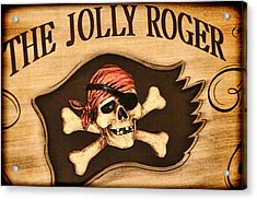 The Jolly Roger Acrylic Print by Kathy Clark
