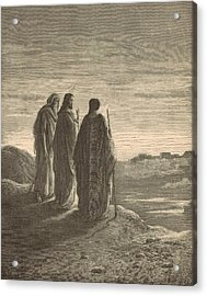 The Journey To Emmaus Acrylic Print by Antique Engravings