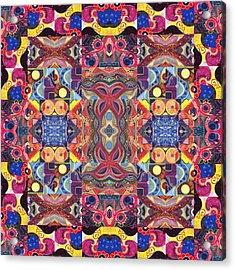 The Joy Of Design Mandala Series Puzzle 3 Arrangement 1 Acrylic Print by Helena Tiainen