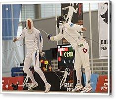 The Joy Of Fencing Acrylic Print