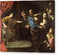 The Judgement Of Daniel Or, The Innocence Of Susanna Oil On Canvas Acrylic Print