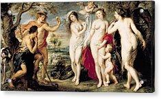 The Judgement Of Paris, 1639 Oil On Canvas Acrylic Print