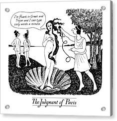 The Judgment Of Paris Acrylic Print