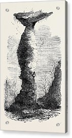 The Jug Rock In Southern Indiana 1869 Acrylic Print by American School