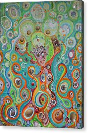 Acrylic Print featuring the mixed media The Juggler Of Junkadelphia by Douglas Fromm