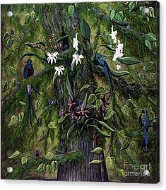 The Jungle Of Guatemala Acrylic Print by Jennifer Lake