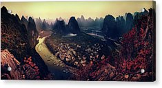The Karst Mountains Of Guangxi Acrylic Print by Clemens Geiger