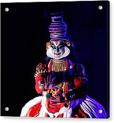 The Kathakali Dance Acrylic Print by Money Sharma