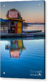 The Kayak Shack Morro Bay Acrylic Print by Terry Garvin