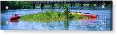 the Kayaks Acrylic Print