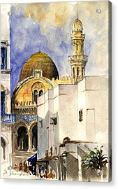 The Ketchaoua Mosque Acrylic Print by Juan  Bosco