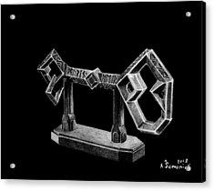 The Key To Erebor Acrylic Print by Kayleigh Semeniuk