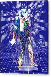 The King 4 Acrylic Print by Bekim Art