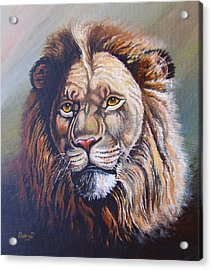 Acrylic Print featuring the painting The King by Anthony Mwangi