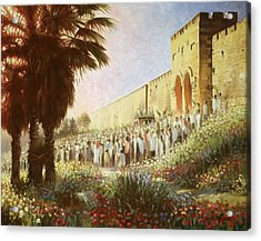 The King Is Coming  Jerusalem Acrylic Print by Graham Braddock