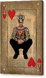 The King Of Hearts Acrylic Print