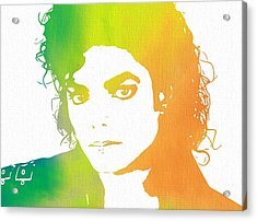 The King Of Pop Art Acrylic Print