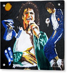 The King Of Pop Michael Jackson Acrylic Print by Ronald Young