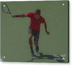 The King Of Tennis Acrylic Print