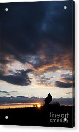 The King Stone Sunset Acrylic Print by Tim Gainey
