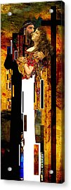 The Kiss     Christ And Maria Magdalena Acrylic Print by Karine Percheron-Daniels