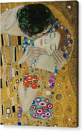 The Kiss Detail Acrylic Print by Gustav Klimt