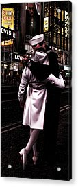 The Kiss In Times Square Acrylic Print by Evie Carrier