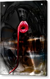 Acrylic Print featuring the digital art The Kiss by Kim Gauge