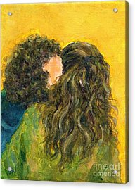 The Kiss Of Two Curly Haired Lovers Acrylic Print