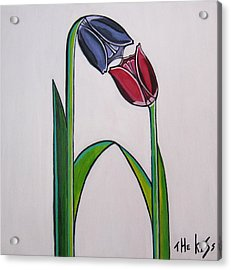 The Kiss Acrylic Print by Sandra Marie Adams