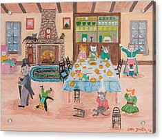 The Kittletons No School Today Acrylic Print by Sam Yonts